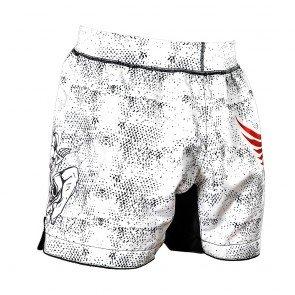 Faded Black Mesh +Ribbon Joya Kick-Boxing Short Thai
