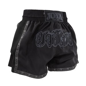 JOYA KICK-BOXING SHORT THAI (MESH +RIBBON) FADED BLACK
